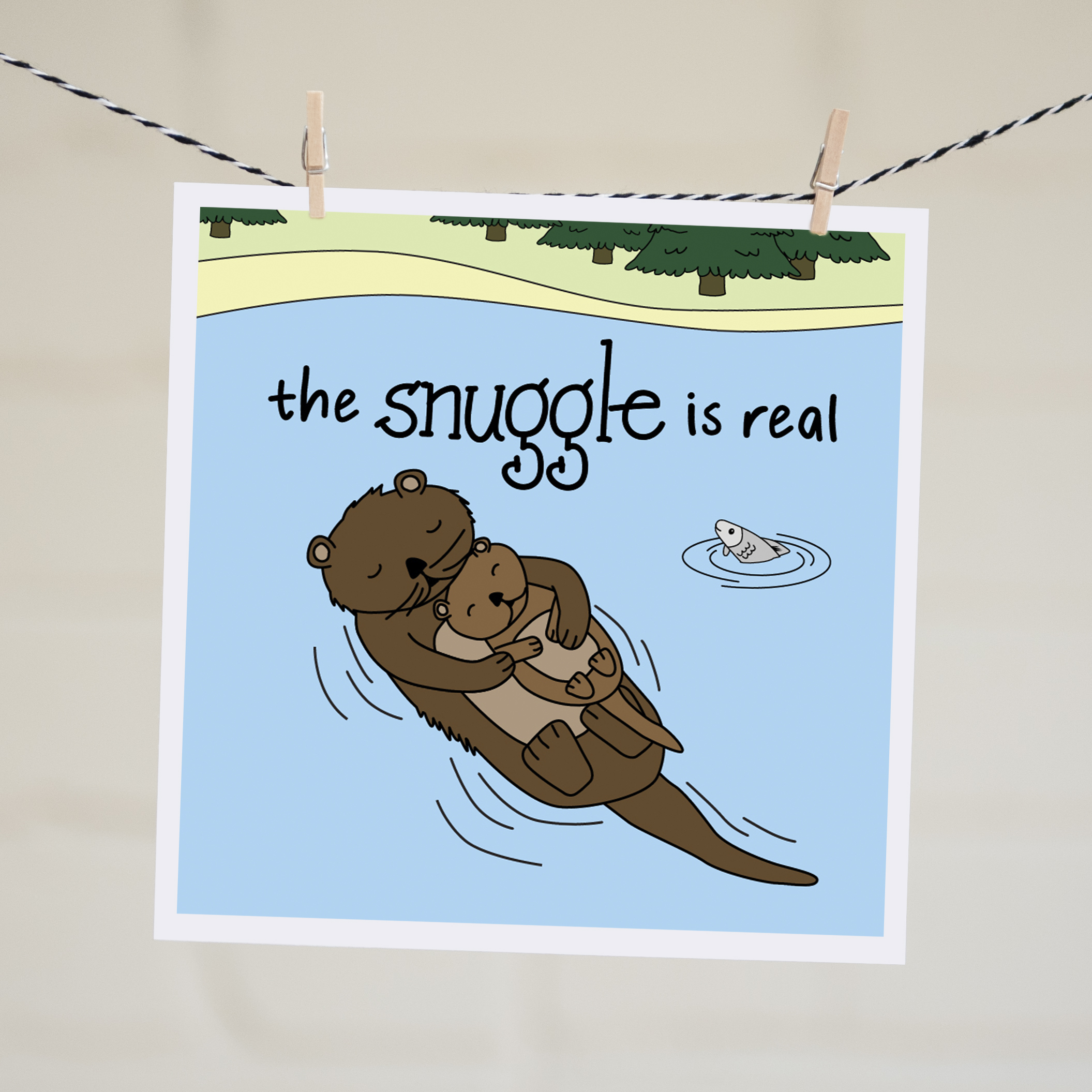 the snuggle is real new baby card