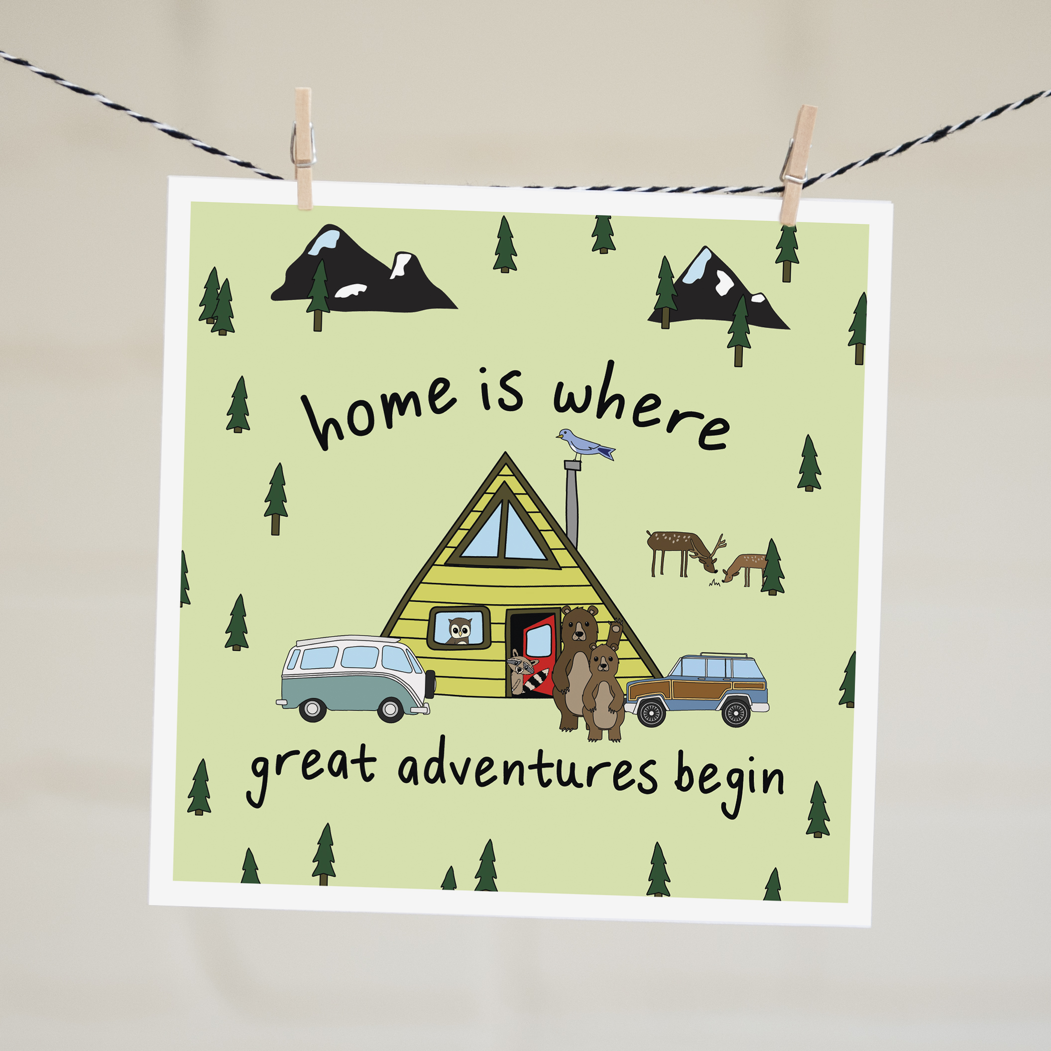 housewarming card home is where great adventures begin
