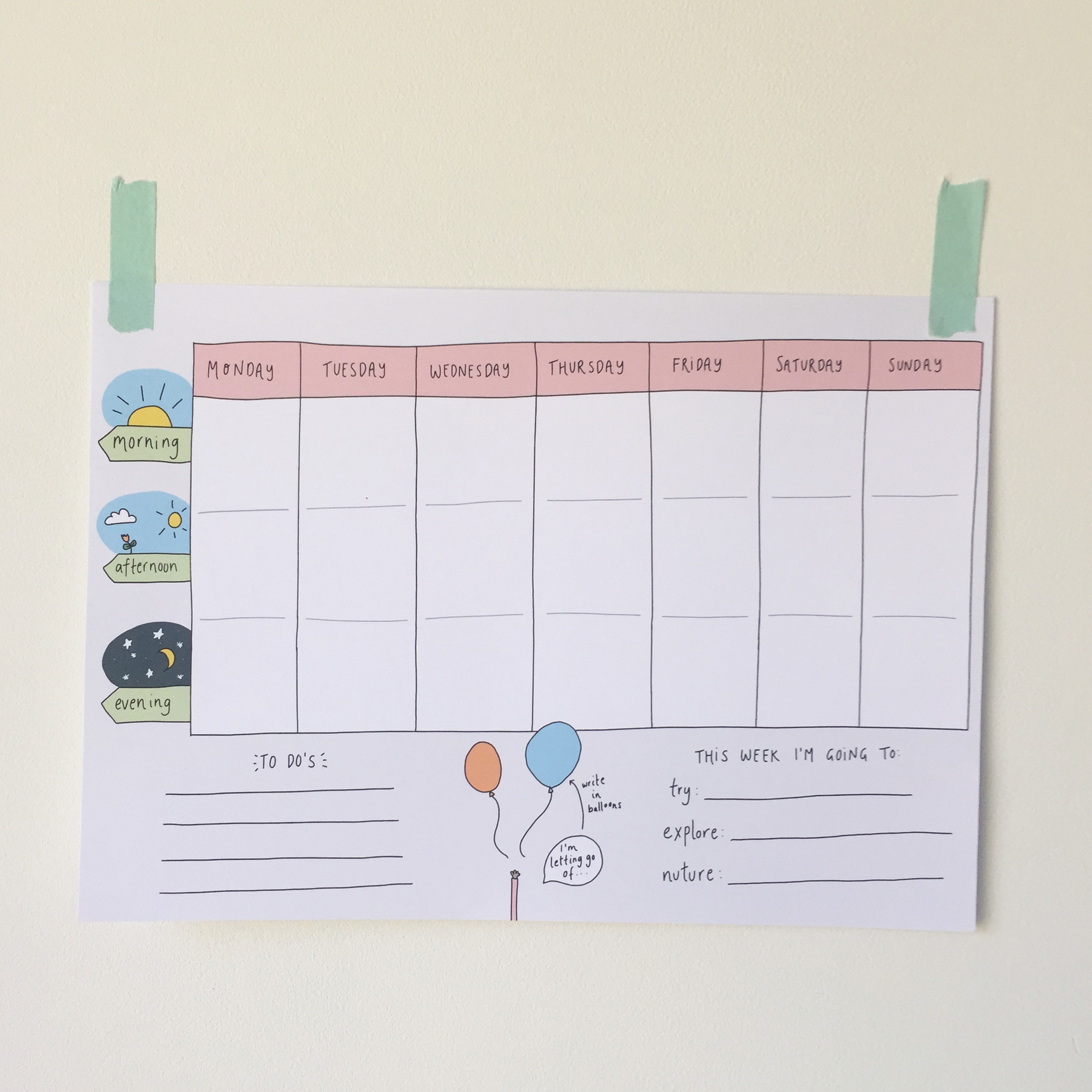 It is a picture of Terrible Weekly Planner Printable Free